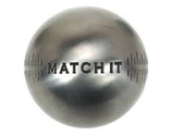 Boule de pétanque Obut MATCH IT - Demi-Tendre - Inox